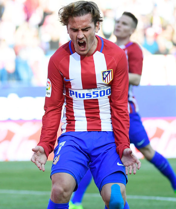 Antoine Griezmann during Atletico Madrid's game against Sevilla