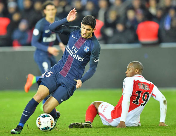 Guedes made his PSG debut on Sunday against Monaco
