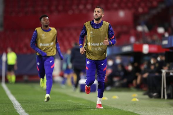 Hakim Ziyech was on the bench against Porto