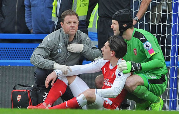 Hector Bellerin suffered a blow to the head in the match against Chelsea that required an MRI scan