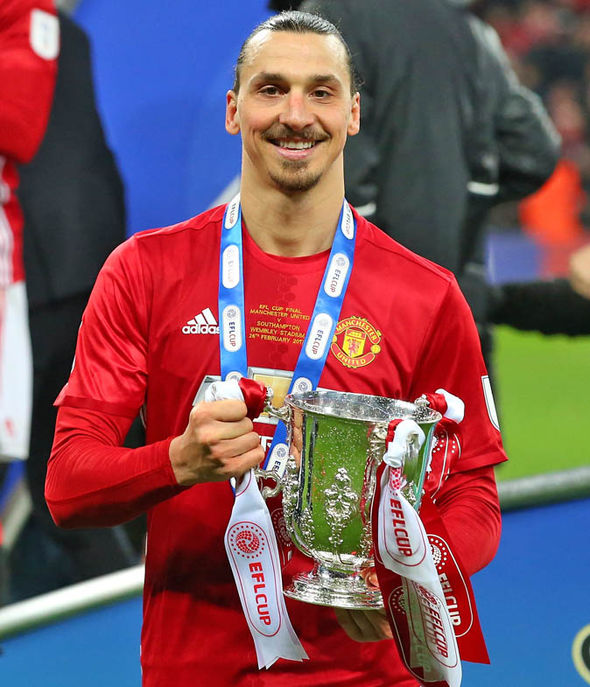Ibrahimovic scored the winning goal for United in the EFL Cup final