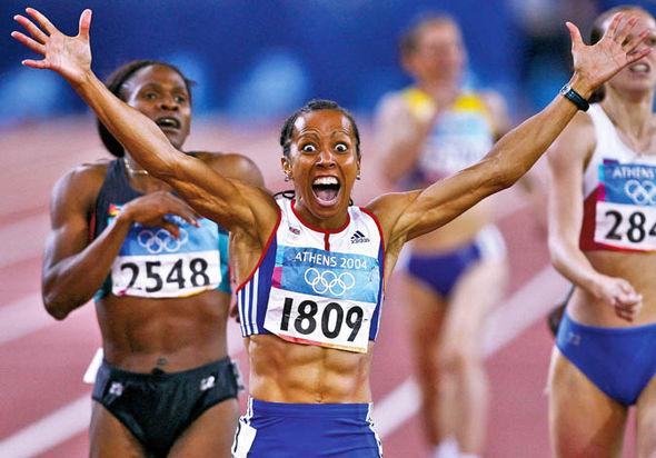 Jason Steele met Dame Kelly Holmes at the London 2012 Olympics