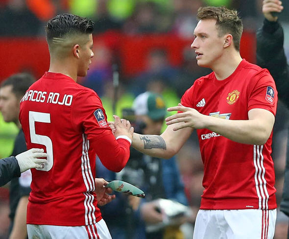 Jose Mourinho has instead stuck with Marcos Rojo and Phil Jones as his centre-back pairing