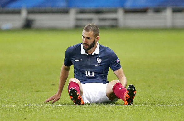 Karim Benzema playing for France