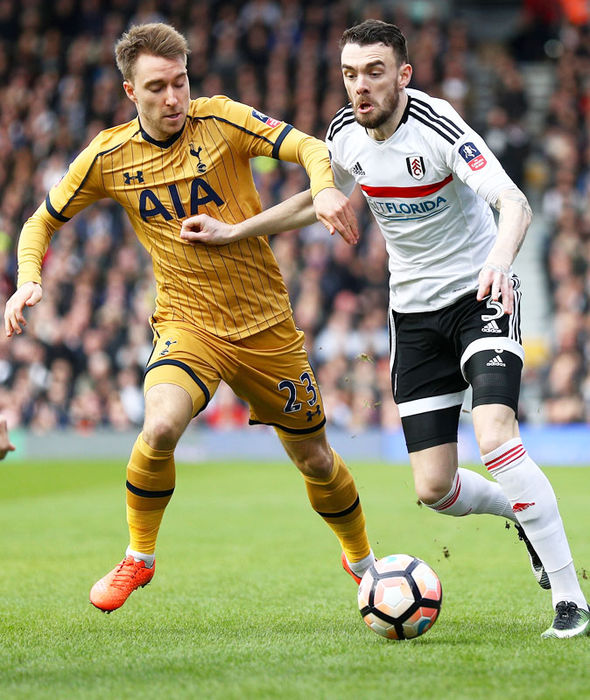 Christian Eriksen in FA Cup action for Tottenham