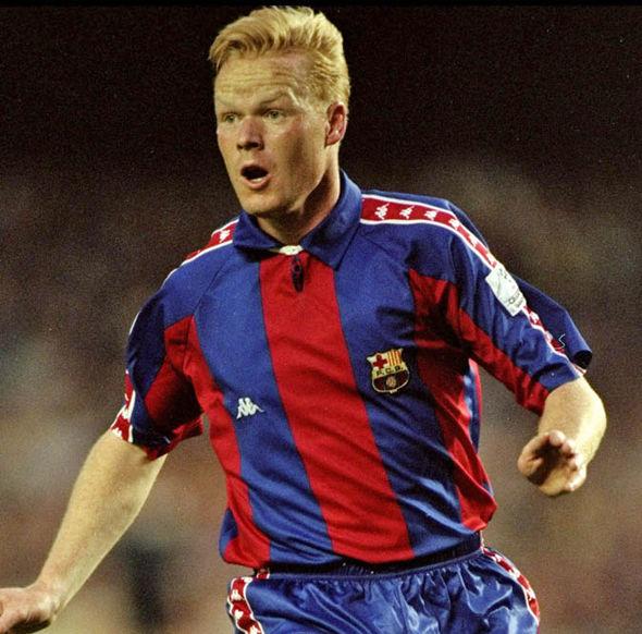 Koeman as Barca player