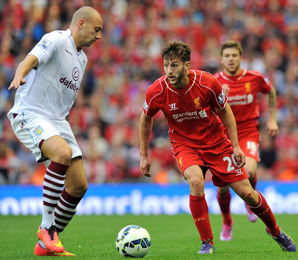 Lallana made his Liverpool debut against Aston Villa in 2014