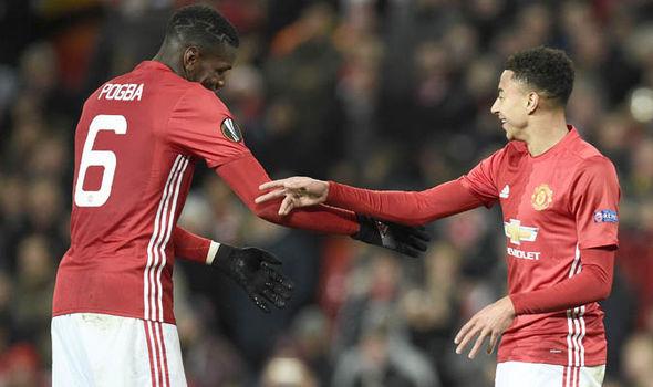 Manchester United Paul Pogba Jesse Lingard