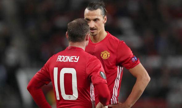 Manchester United Zlatan Ibrahimovic Wayne Rooney