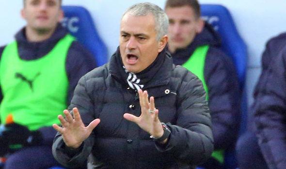 Jose Mourinho at Man United v Leicester