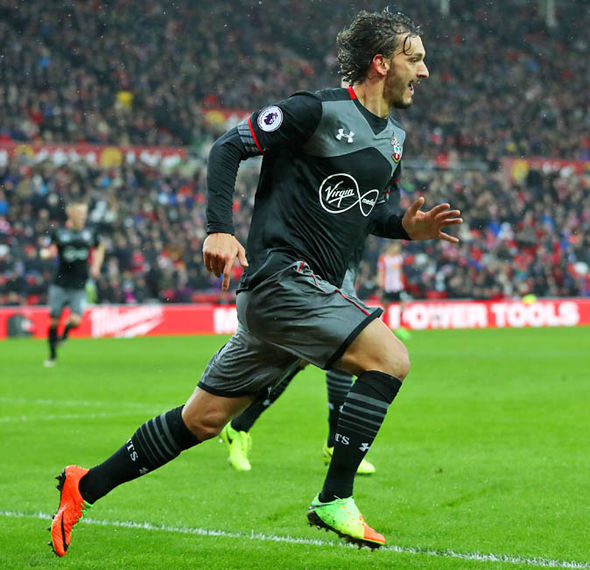 Manolo Gabbiadini has scored three goals in his first two games for Southampton