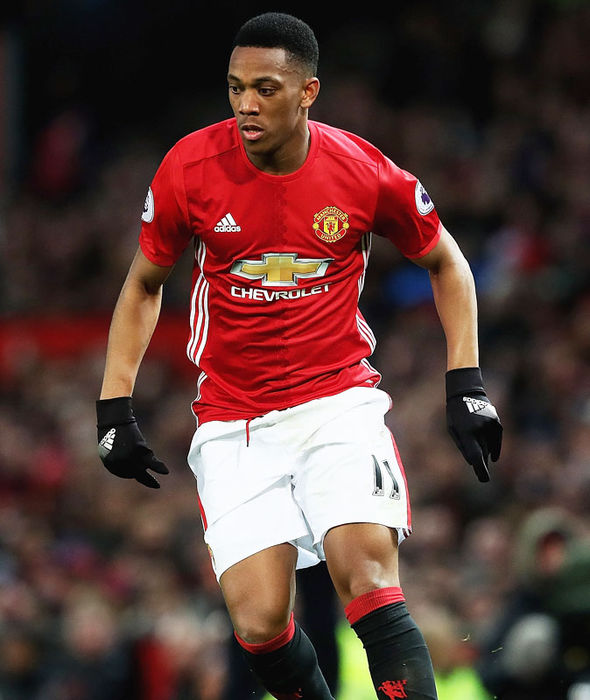 Anthony Martial in action for Manchester United against Middlesbrough