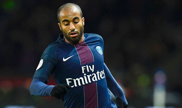 Paris Saint-Germain midfielder Lucas Moura