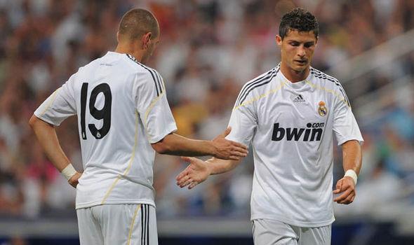 Cristiano Ronaldo Real Madrid Karim Benzema
