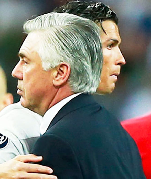 Cristiano Ronaldo with Carlo Ancelotti