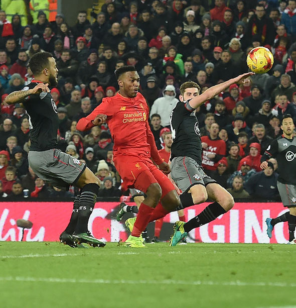 Daniel Sturridge missing a presentable chance for Liverpool