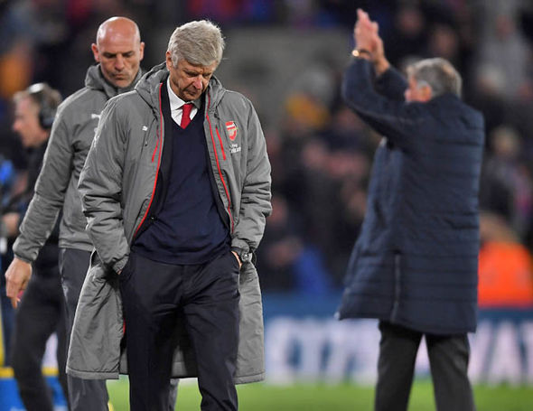 The sight of Wenger trudging down the touchline was a sad one