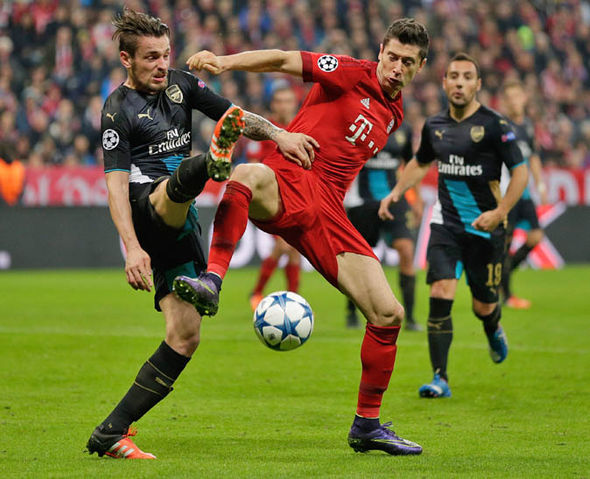This will be the third time in five years Arsenal will face Bayern Munich in the last-16