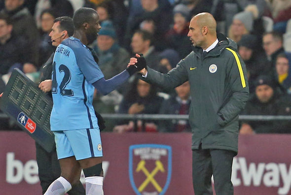 Yaya Toure Pep Guardiola