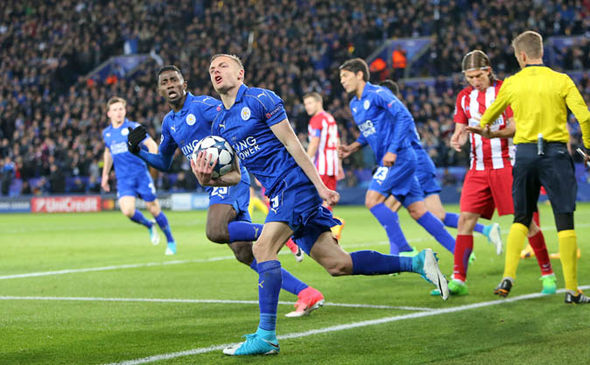 Vardy scored midway through the second half to give his side a glimmer of hope