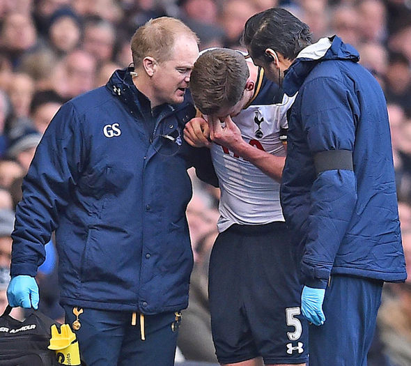 Vertonghen injury at Spurs