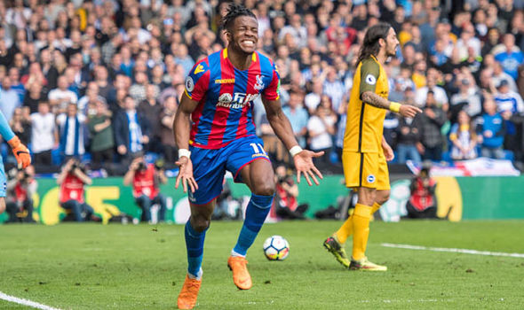 Wilfried Zaha Crystal Palace Brighton Premier League