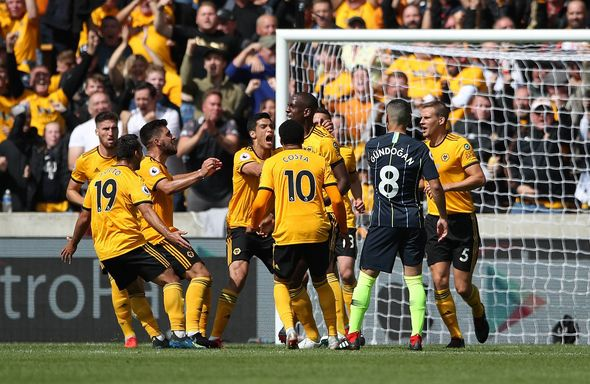 Wolves 1 1 Man City Live Score Goals And Updates Willy Boly Handball Controversy Football