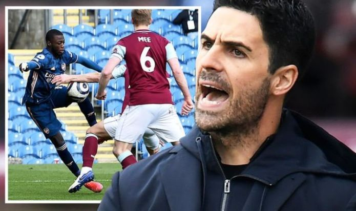 Arsenal boss Mikel Arteta fumes at VAR for snubbing 'obvious' penalty in Burnley draw