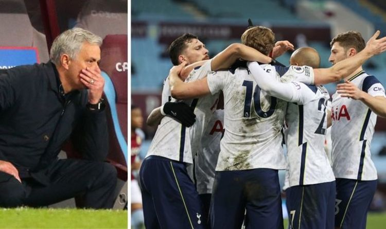 Tottenham boss Jose Mourinho delivers loaded message to players after Aston Villa win