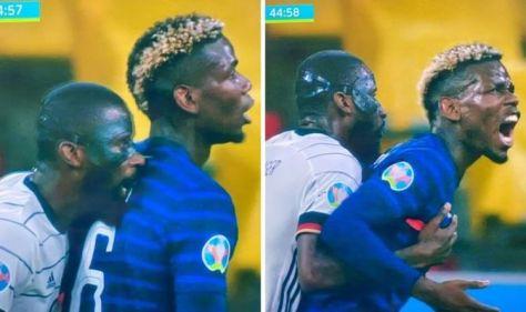 Chelsea star Antonio Rudiger caught on camera biting Paul Pogba in France vs Germany match