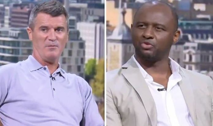 Roy Keane calls Patrick Vieira 'typical Arsenal bully' as pair relive feisty tunnel clash