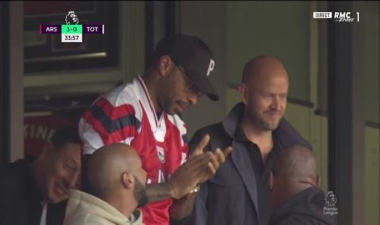 Thierry Henry spotted with billionaire Daniel Ek who wants to buy Arsenal  vs Tottenham | SportsRooter.com