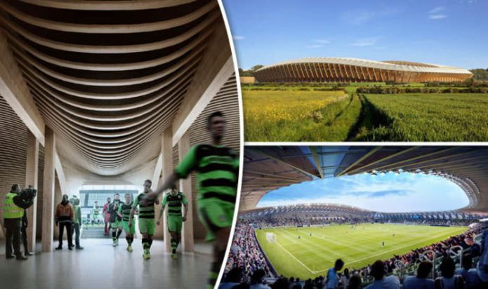 The world's first wooden stadium