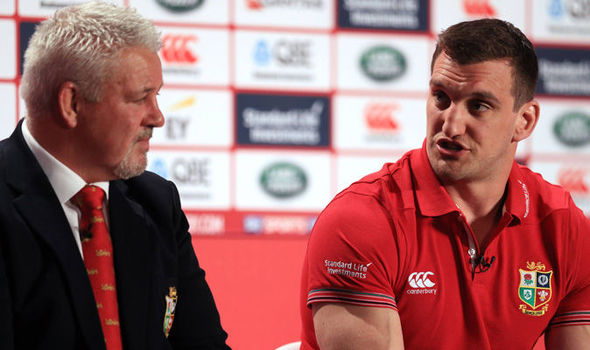 British & Irish Lions coach Warren Gatland and captain Sam Warburton