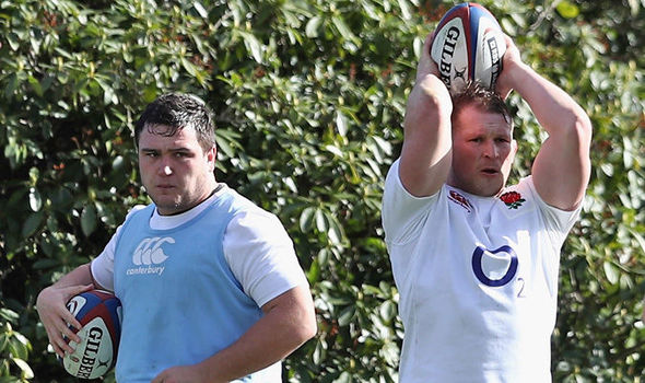 England rugby stars Dylan Hartley and Jamie George