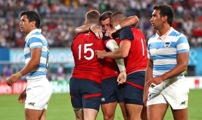 Image result for England Defeat Argentina To Seal Quarter Final Place
