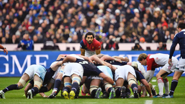 France rugby scrum