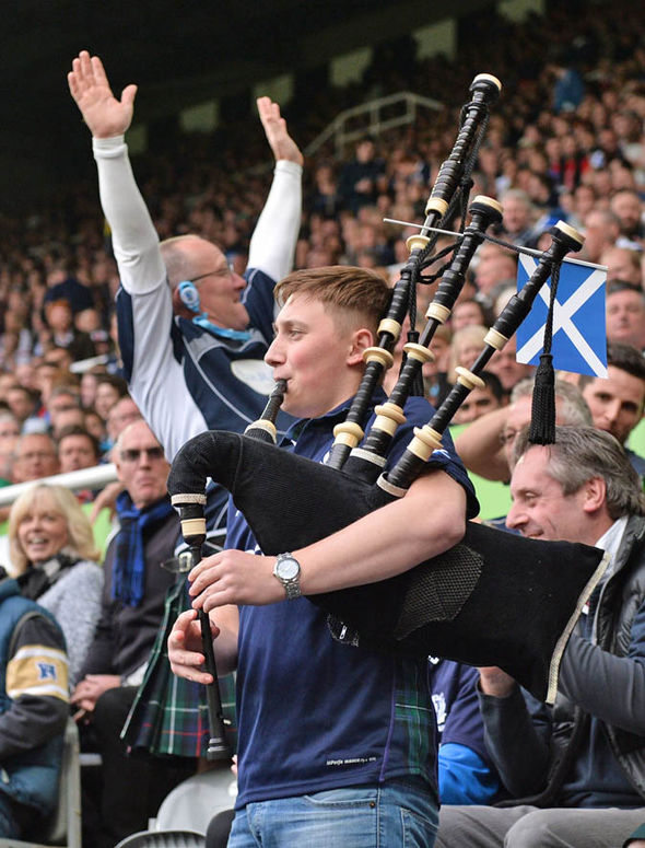 Scotland were banned from taking bagpipes into the stadium during the 2015 World Cup