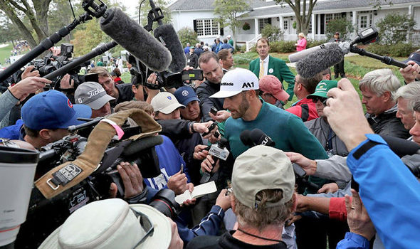 Dustin Johnson at the Masters