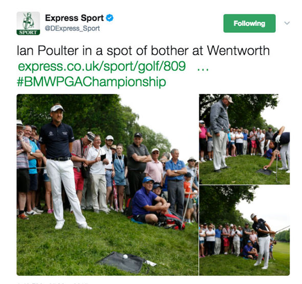 BMW PGA Championship: Ian Poulter struggled on the third at Wentworth