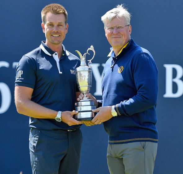 Henrik Stenson had to return the Claret Jug this week