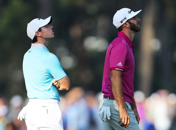 The Open 2017 competitors Rory McIlroy and Dustin Johnson