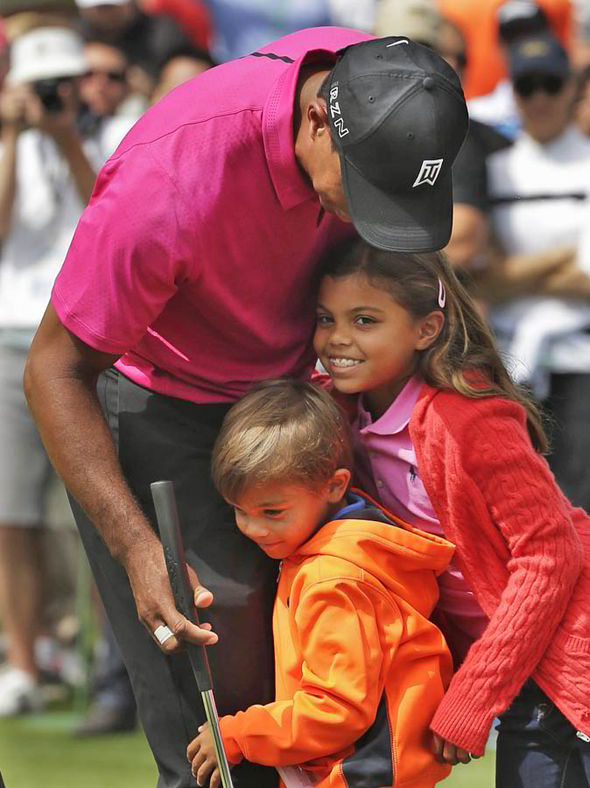 2015 photos of tiger woods children ages