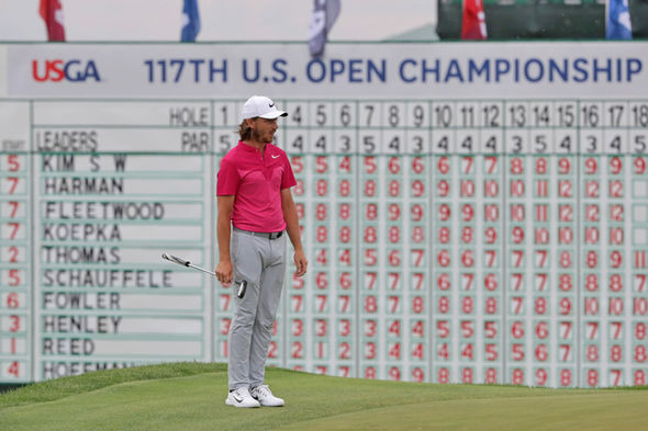 US Open 2017 contender Tommy Fleetwood  US Open 2017 final round tee-times: When do Brian Harman and Rickie Fowler go out? | Golf | Sport US Open 2017 contender Tommy Fleetwood 973091