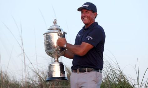 Phil Mickelson wins PGA Championship to become oldest major champion in history