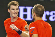 Jamie Murray Bruno Soares fail defend Australian Open title Sam Querrey Donald Young