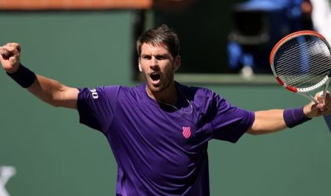 Cameron Norrie reacts to becoming British No 1 after reaching Indian Wells semi-finals