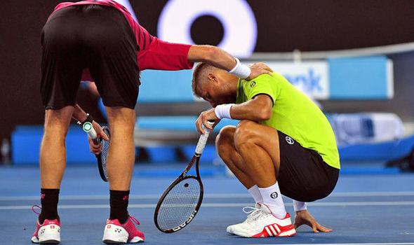 Stan Wawrinka booed hit Martin Klizan groin Australian Open
