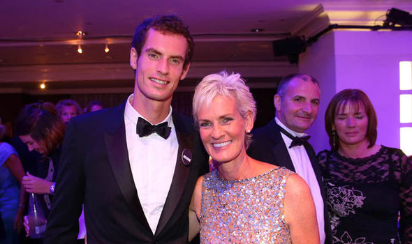 Andy Murray and Judy Murray