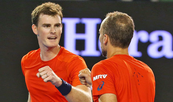 Jamie Murray and Bruno Soares at the Australian Open